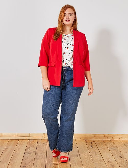 Jean 5 poches coupe large                             BLEU Grande taille femme