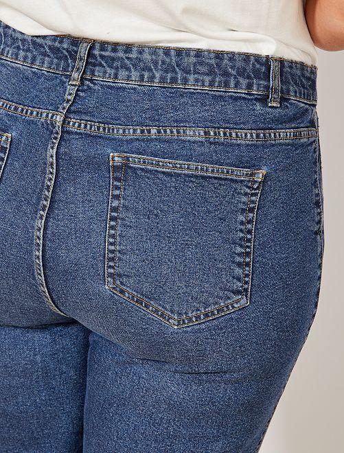 Jean 5 poches coupe large Grande taille femme - BLEU - Kiabi - 22,00€