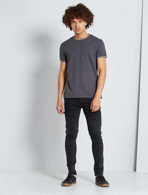 Jean biker skinny                             noir