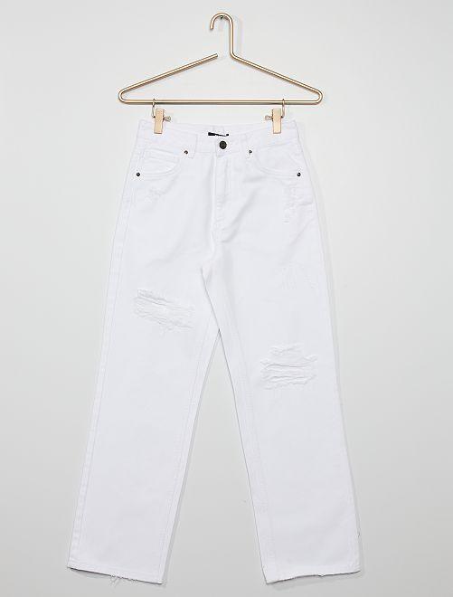 Jean blanc 'destroy'                             blanc