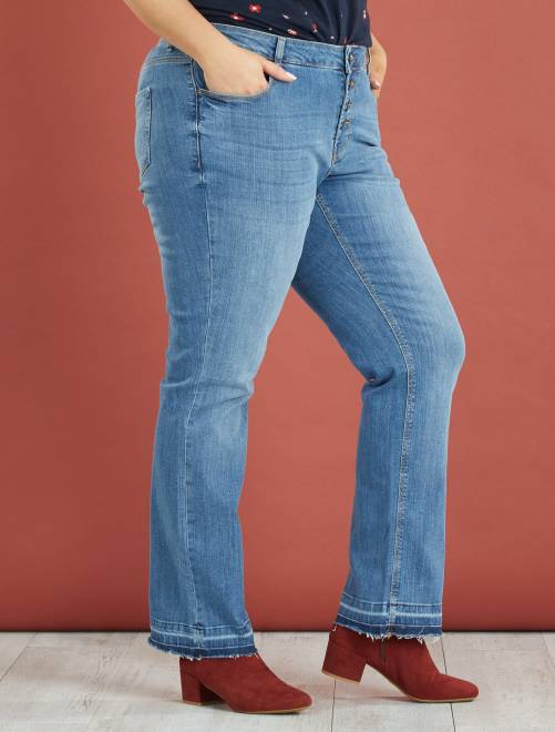 Jean bootcut femme taille haute grande taille   Chic kids 52830f551865
