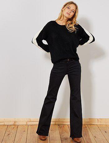 Femme du 34 au 48 - Jean bootcut taille haute - Kiabi