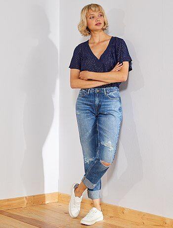 0837465623 Soldes jeans femme, achat de jean pas cher en ligne Vêtements femme ...