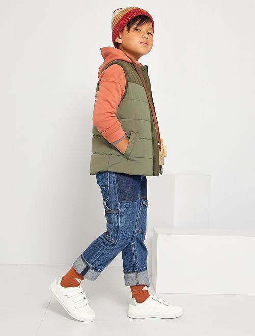 Jean coupe droite grandes poches                             brut
