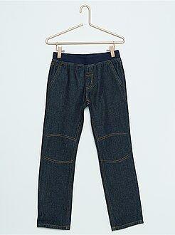 Jean regular - Jean coupe droite taille élastiquée - Kiabi