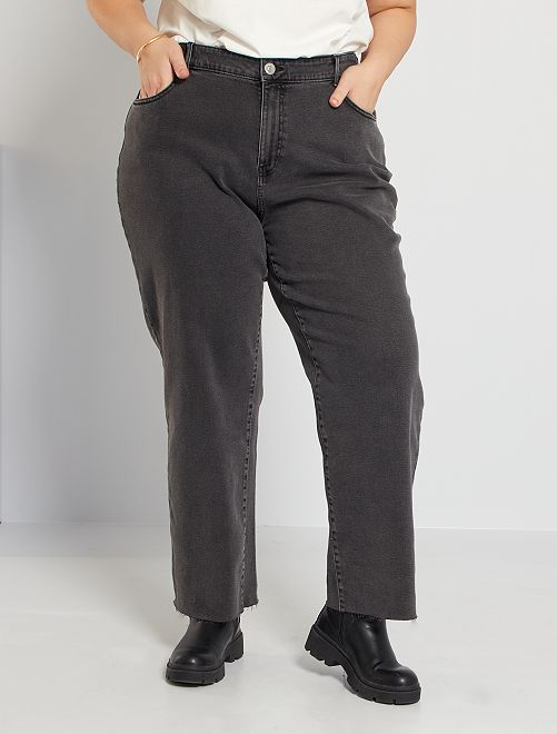 Jean coupe large                                                     gris