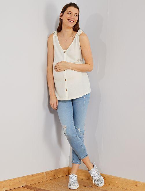 Jean de maternité slim fit coupe 7/8e                                         triple stone Vêtement de grossesse
