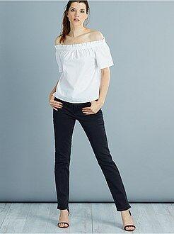 Jean noir - Jean droit super taille haute - Longueur US32