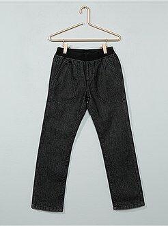 Jean regular - Jean droit taille élastique