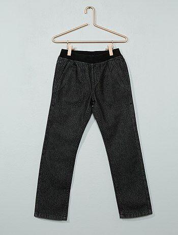 Jean droit taille élastique