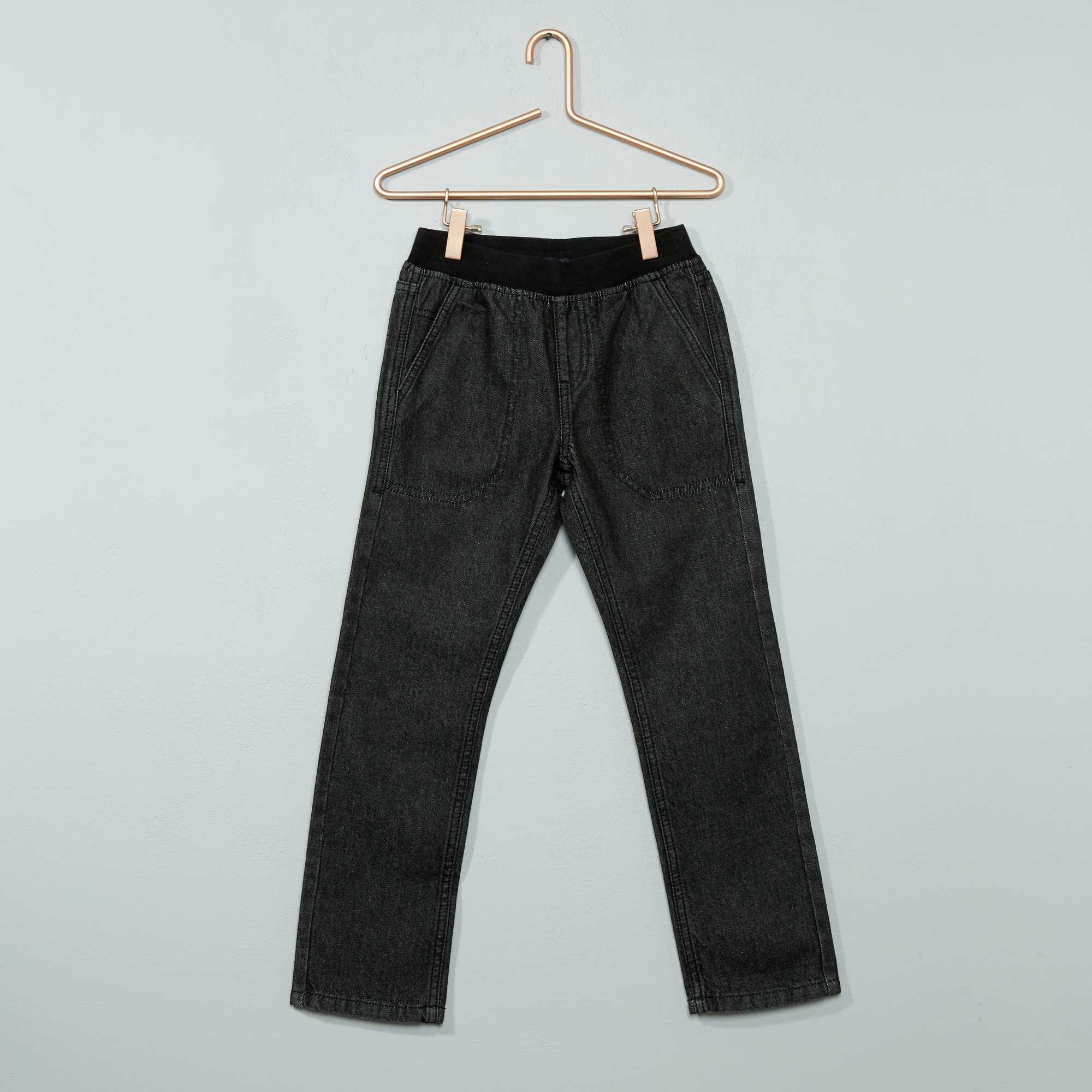 Couleur : denim black, denim bleu, ,, - Taille : 6A, 9A, 8A,10A,7ALe jean idéal pour le confort grâce à sa taille élastiquée ! - Jean denim - Coupe