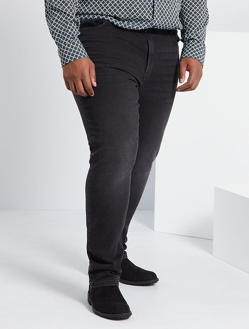 Jean fitted coton stretch                                                     anthracite Grande taille homme