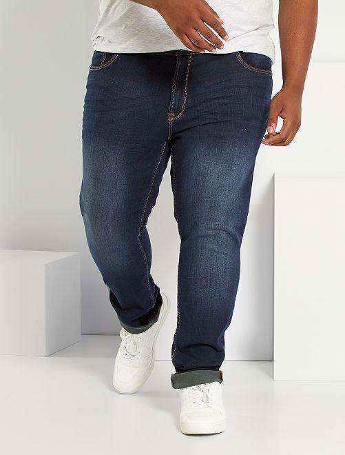 Jean fitted coton stretch                                 bleu indigo