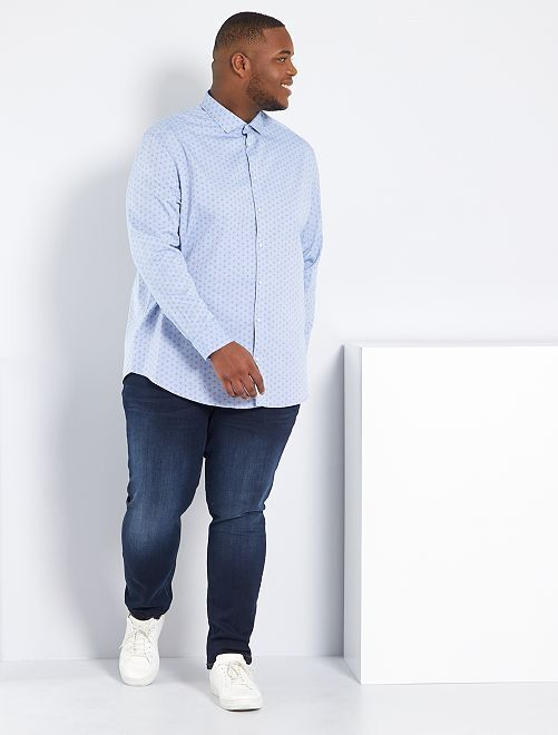 Jean fitted coton stretch L32                                                                             bleu indigo