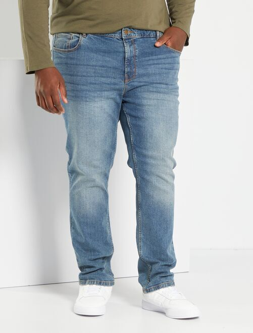 Jean fitted coton stretch                                                     stone Grande taille homme