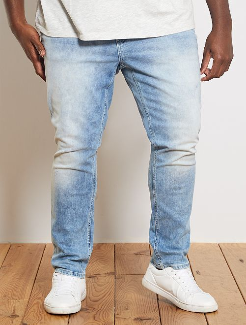 Jean fitted délavé                             triple stone