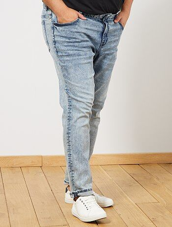 Denim Homme Jeans Taille Pantalon Grande Mode kZOiXuP
