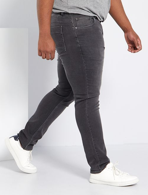 Jean fitted stretch                                                     anthracite Grande taille homme