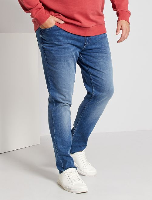 Jean fitted stretch                                                     stone Grande taille homme