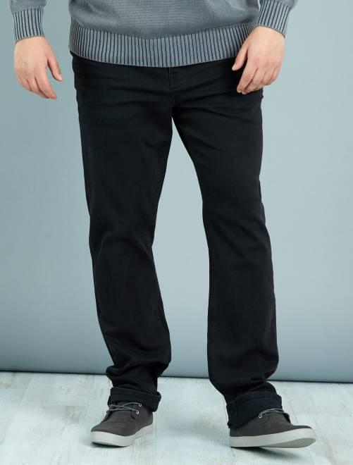 Jean grande longueur L38                             noir Grande taille homme