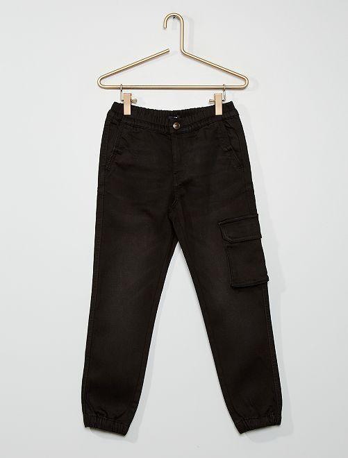 Jean jogger stretch                                         noir