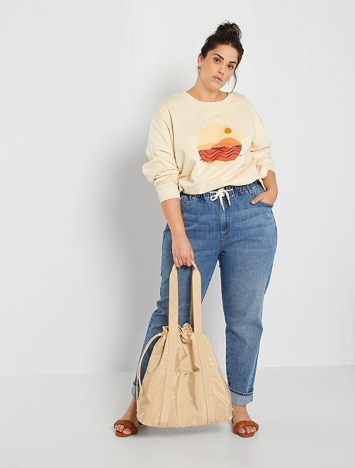 Jean large éco-conçu                             bleu