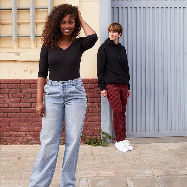 Jean Large Taille Haute