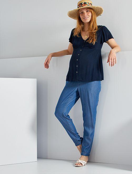 Jean matière stretch                             bleu