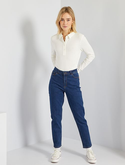 Jean mom taille haute                                                                                         rince