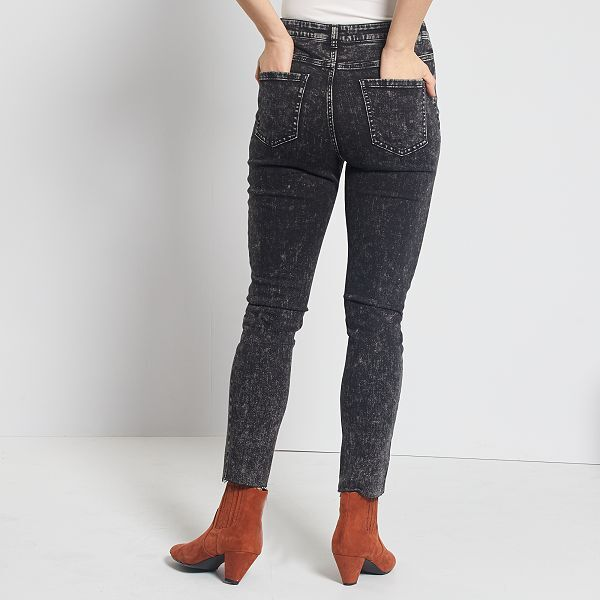 Jean neige coupe skinny Femme - noir - Kiabi - 18,00€
