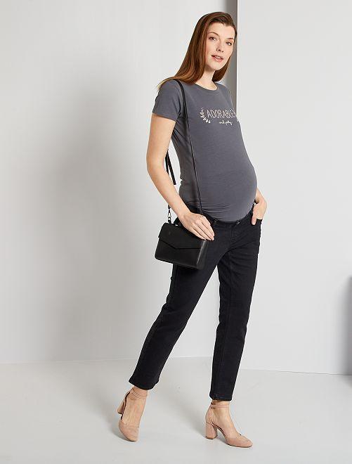 Jean regular de maternité L28                             noir