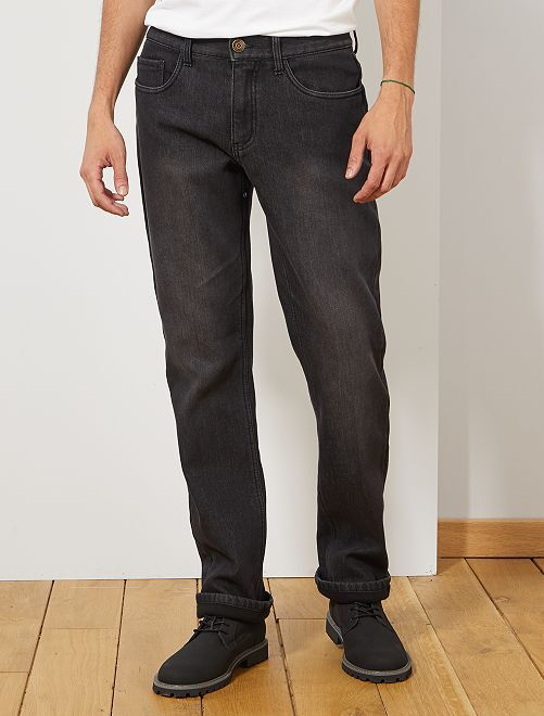 Jean regular doublé polaire                                         anthracite