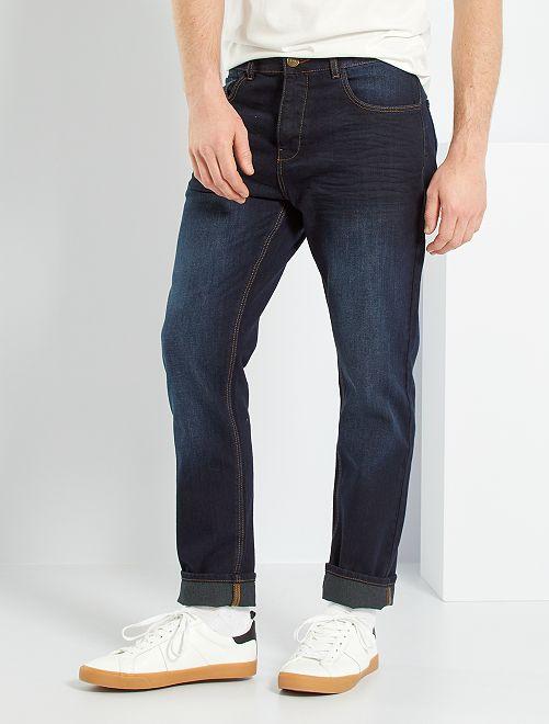 Jean regular éco-conçu                                         bleu indigo