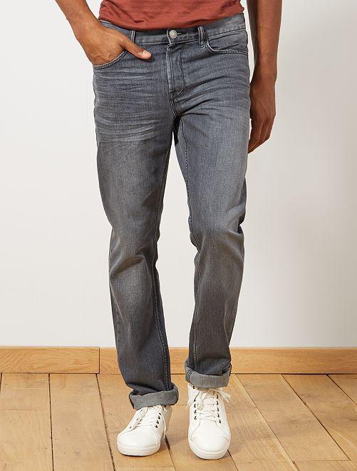 Jean regular éco-conçu L34                                                                             gris foncé