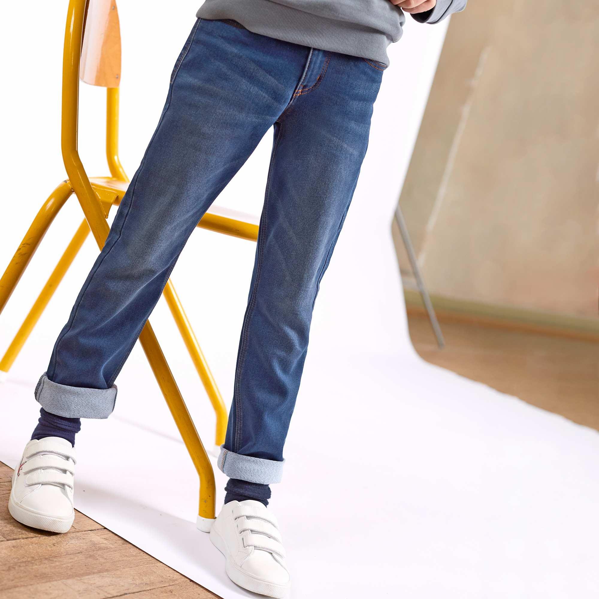 Couleur : brut, gris, ,, - Taille : 6A, 8A, 5A,3A,10AUne toute nouvelle matière super confortable pour ce jean ! - Jean effet délavé -