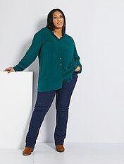 Jean regular en denim stretch longueur 82 cm