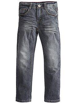 Jean regular poches rivetées