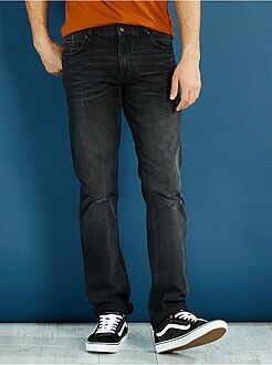 Homme du S au XXL Jean regular pur coton abrasions légères