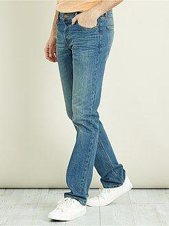 Jean - Jean regular pur coton L38 +1m90 - Kiabi