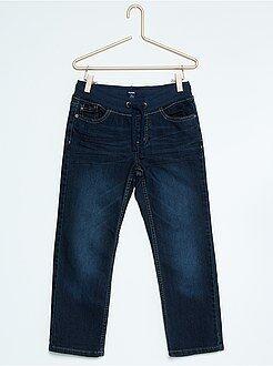 Jean regular - Jean regular taille élastique grande taille - Kiabi