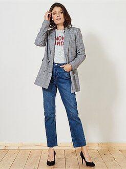 Jean taille haute - Jean regular taille haute - Kiabi
