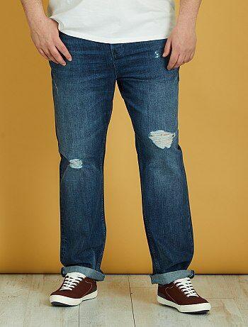 c0abc9c87c355 Soldes jeans grande taille homme - pantalon denim - mode homme ...