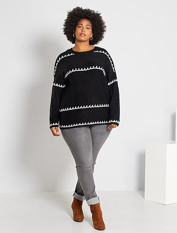 Grande taille femme - Jean skinny 5 poches effet push-up L32 - Kiabi