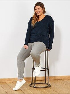 Grande taille femme - Jean skinny 5 poches effet push-up L32 - Kiabi