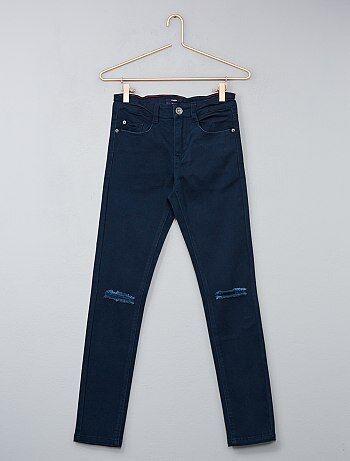 Jean skinny avec abrasions - Kiabi