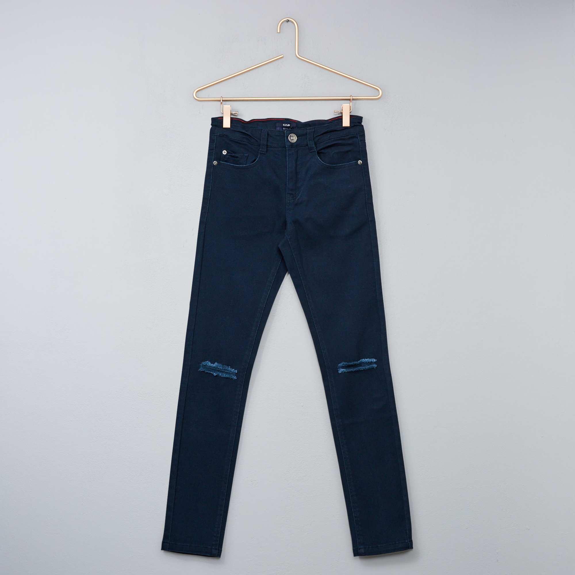 Couleur : noir, bleu marine, ,, - Taille : 12A, S, XS,10A,Une coupe tendance pour un jean simple mais efficace ! - Jean avec abrasions -