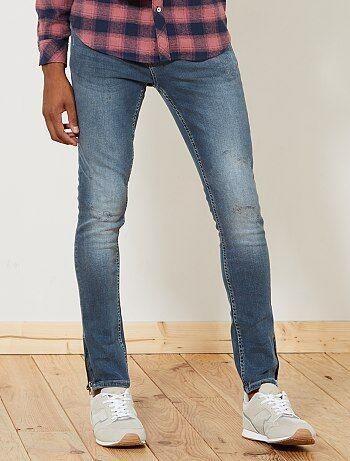 Jean skinny bas de jambes zippés