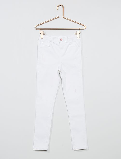 Jean skinny blanc                                         blanc