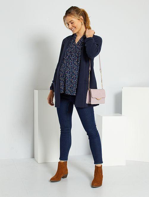 Jean skinny de maternité éco-conçu                                         bleu brut