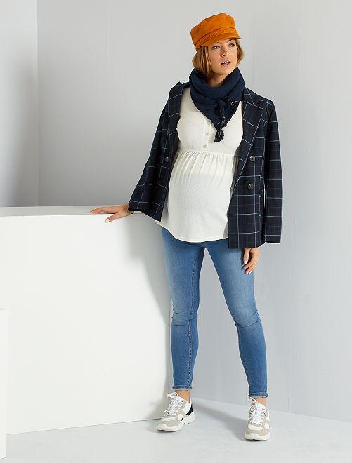 Jean skinny de maternité éco-conçu                                         bleu